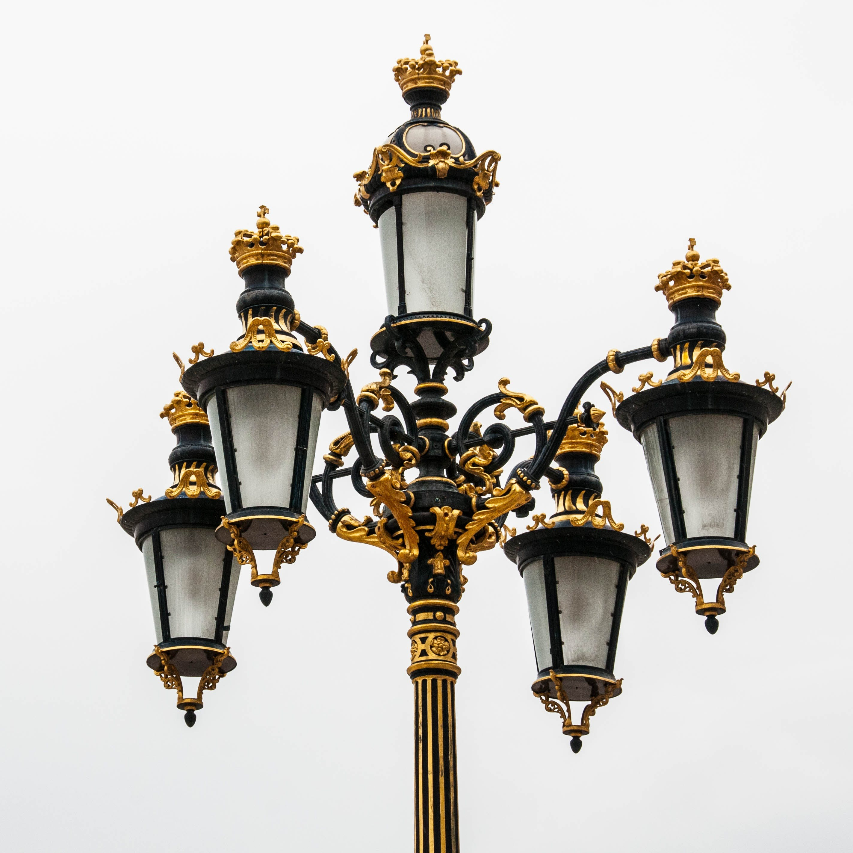 Free stock photo of lamp, lantern, golden, street lamp
