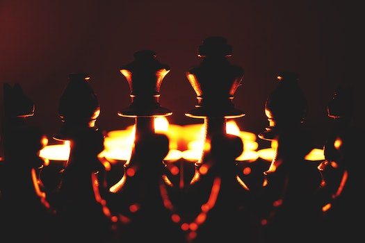 Free stock photo of candlelight, chess pieces