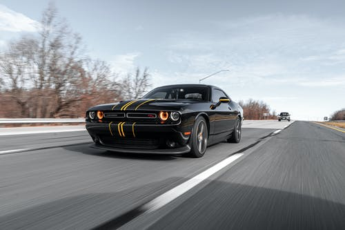 Black Dodge Challenger Coupe
