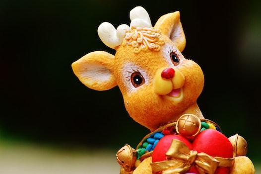 Orange Deer Figurine