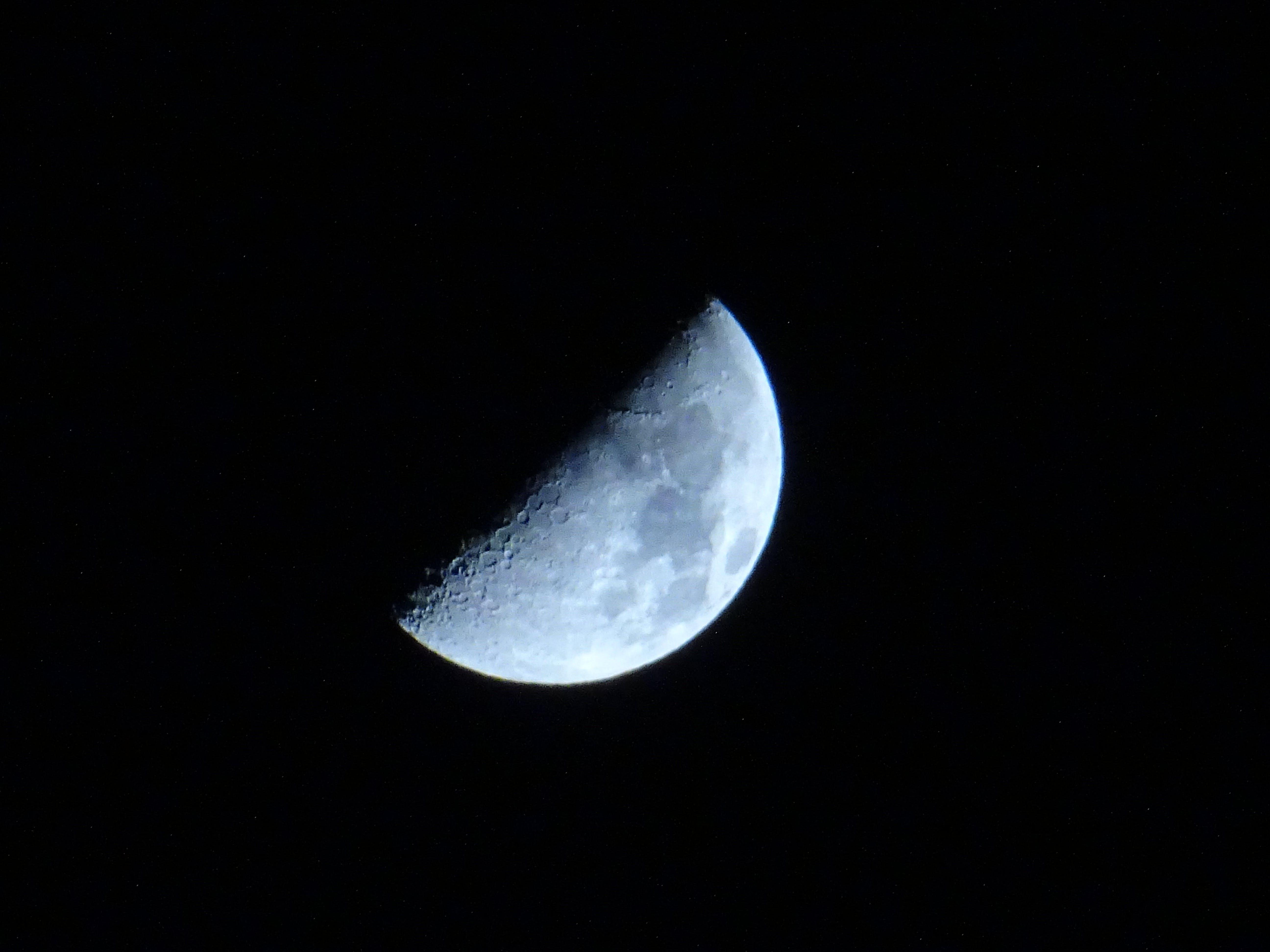 Бесплатное стоковое фото с Астрономия, вечер, кратер, луна