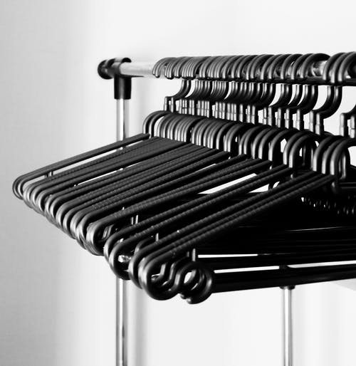 Black Plastic Hangers