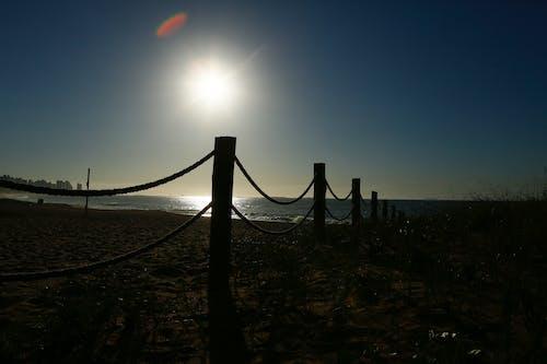 Foto d'estoc gratuïta de cel blau, sol de matí