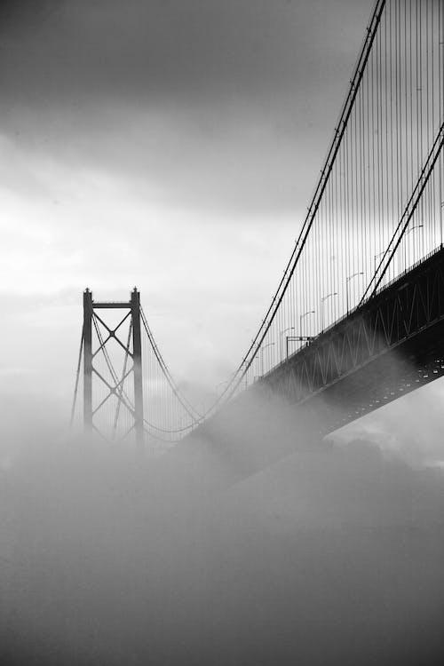 Monochrome Photo Of Bridge