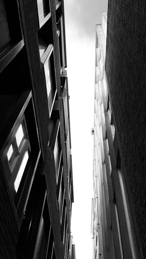 Free stock photo of alley, architecture, black and white, buildings