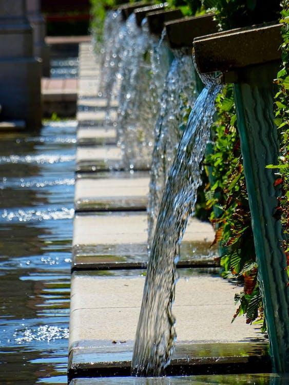 fontána, prameň, prietok
