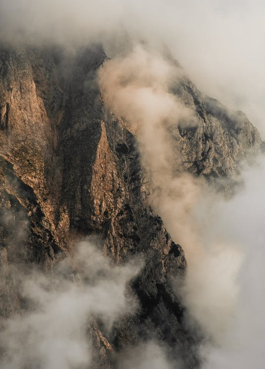 Bird's Eye View Of Rocky Mountain During Daytime