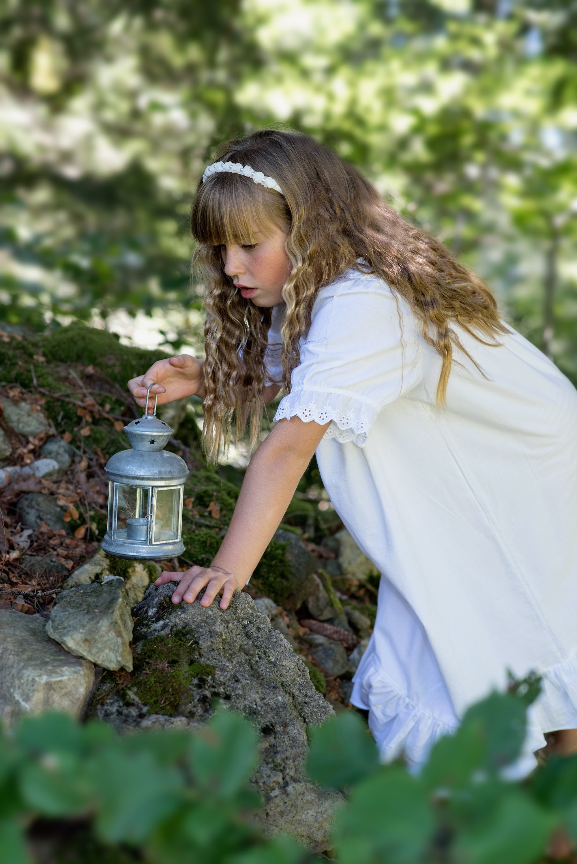 Girl Holding Lantern