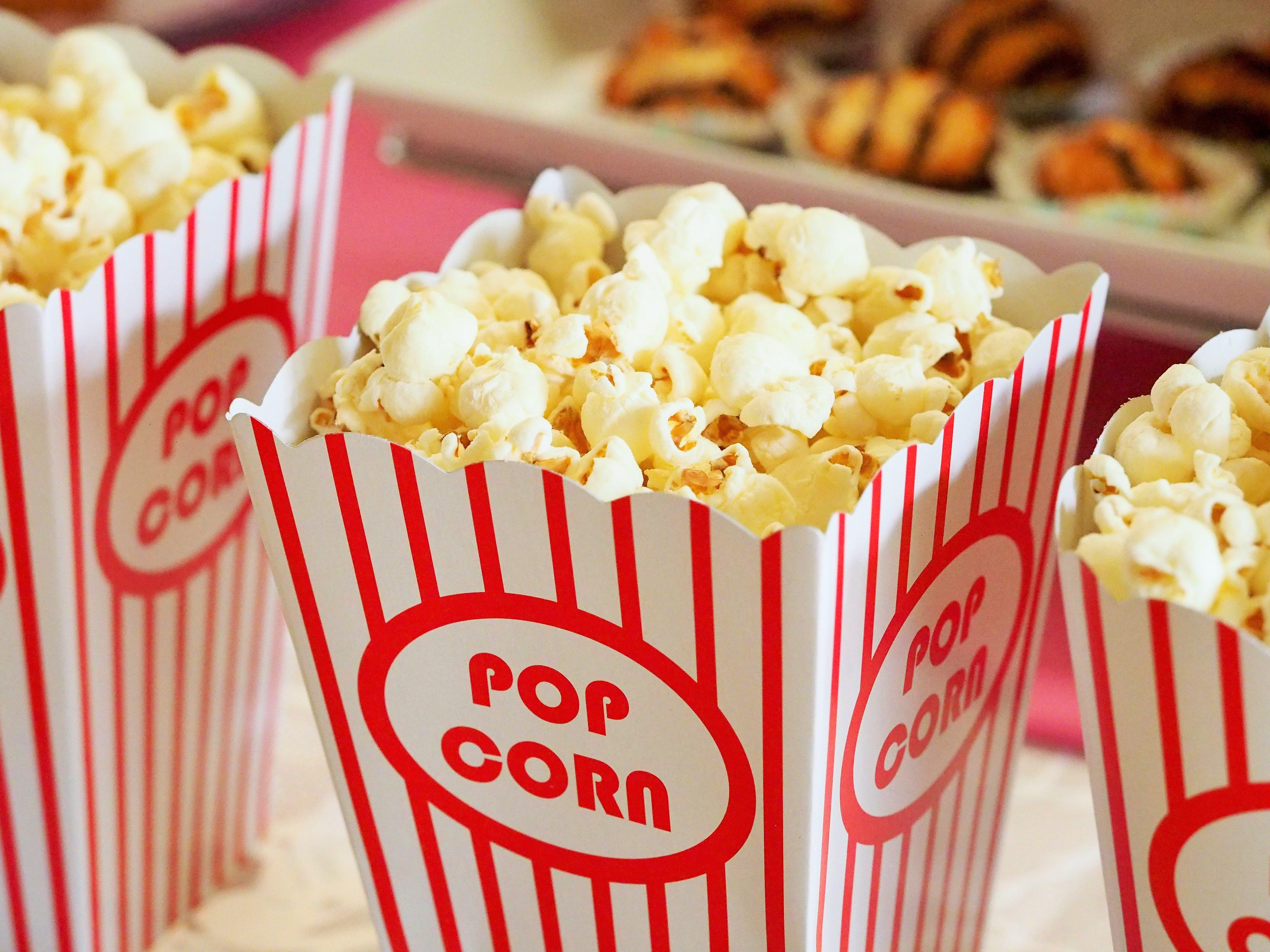 Kostenloses Stock Foto zu essen, kino, popcorn, salzige popcorn