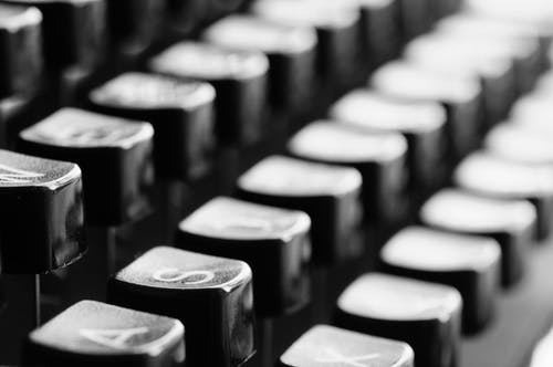 Black Typewriter Keys