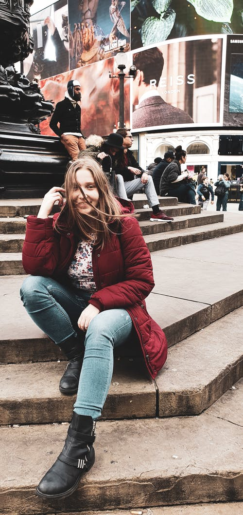 Free stock photo of beautiful, central london, girl