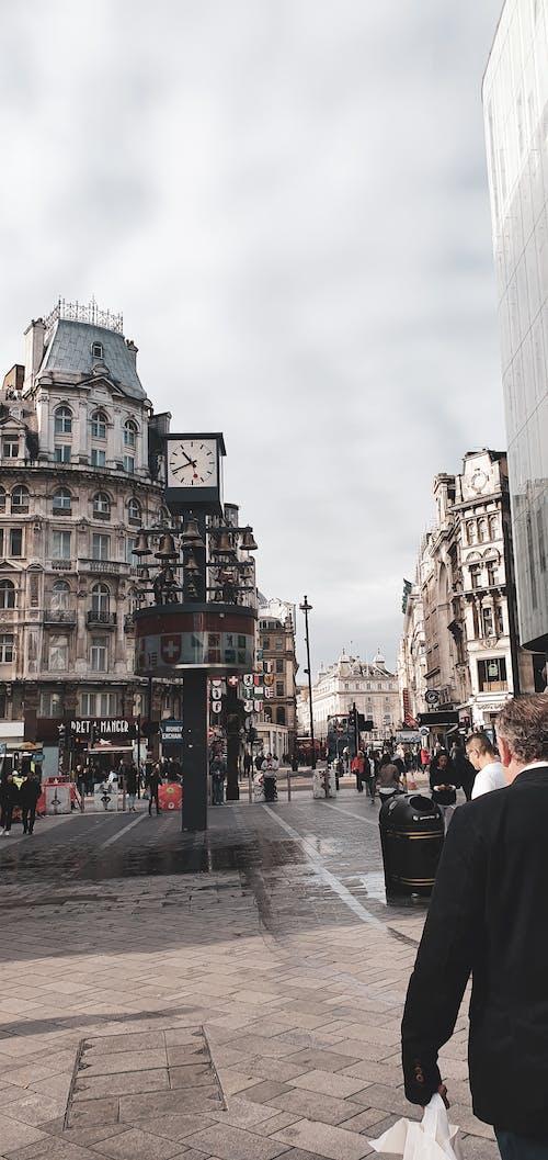 kalabalık cadde, Londra, merkezi londra içeren Ücretsiz stok fotoğraf
