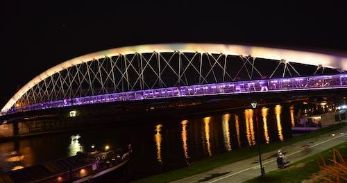 Základová fotografie zdarma na téma milenci, most, noc, řeka