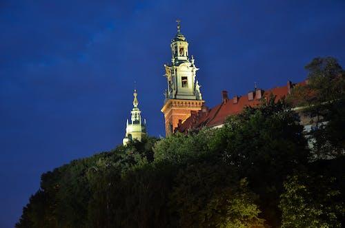 Základová fotografie zdarma na téma hrad, kopec, noc, noční záběr