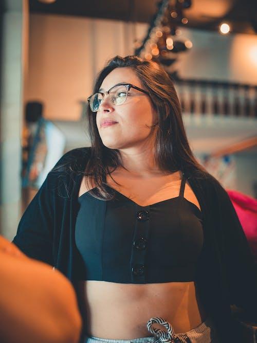 Photo Of Woman Wearing Black Framed Eyeglasses