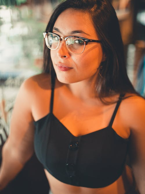 Photo Of Woman Wearing Black Framed Eyeglasses