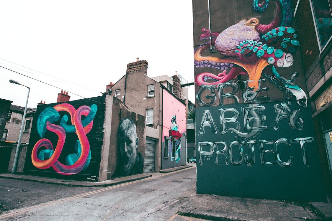 eurooppa, graafinen, graffiti