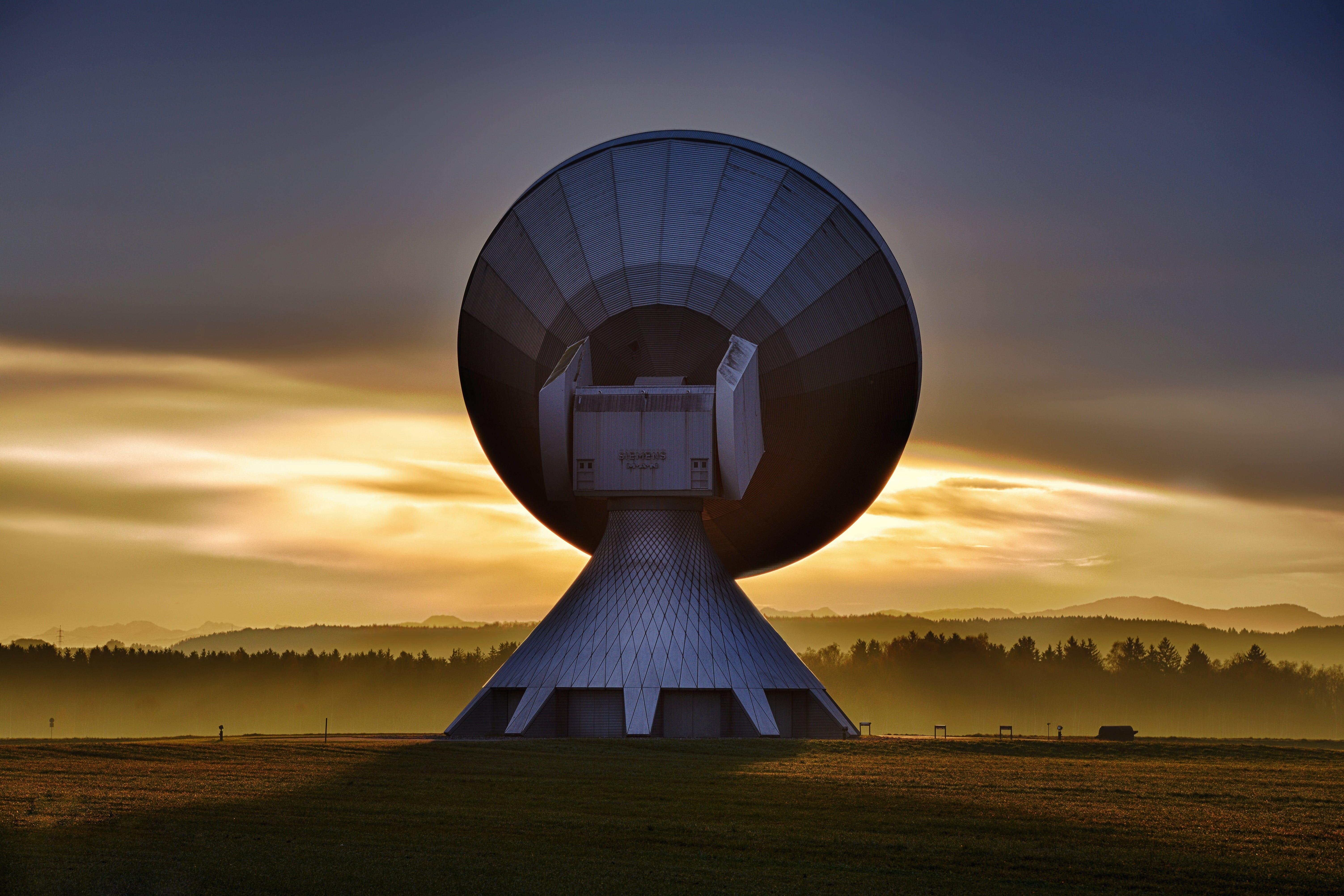 White Satellite Dish