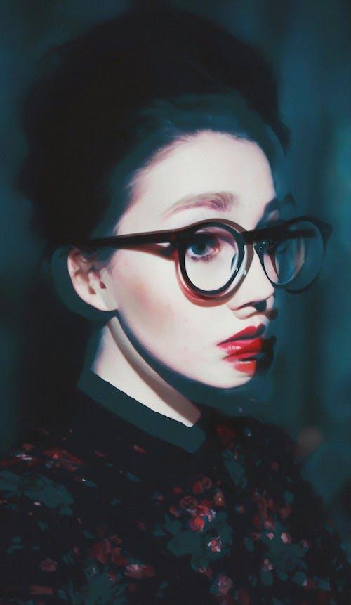 光鮮亮麗, 双重曝光, 奇怪, 女人 的 免费素材照片