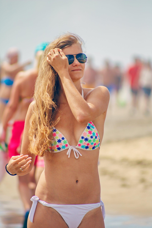 bikini, dáma, dovolená