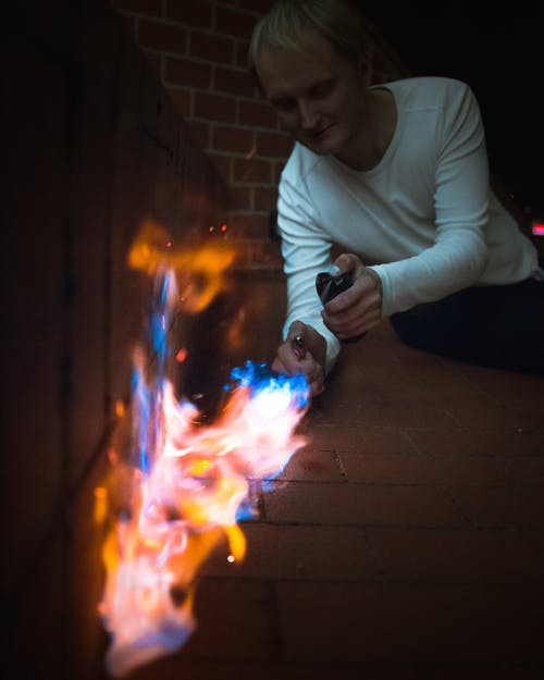 Free stock photo of dangerous, dark, don't play with fire, fire