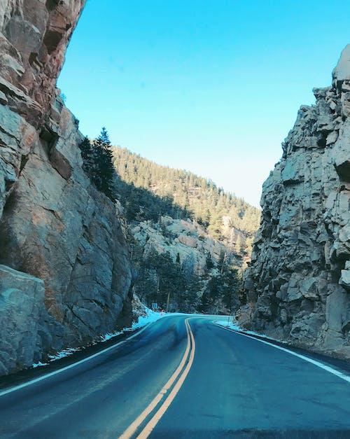 Free stock photo of mountain, road, snow