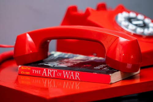 Free stock photo of art of war, book, reading, red