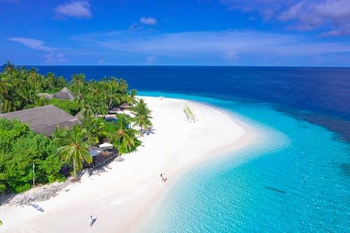 Δωρεάν στοκ φωτογραφιών με oceanshore, ακτή του ωκεανού, άμμος, γαλάζιος ουρανός