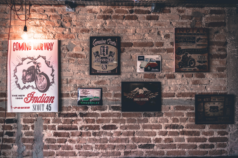 antique, brick wall, bricks