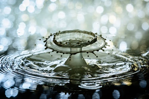 Foto profissional grátis de água, borrifar, close, gota d'água