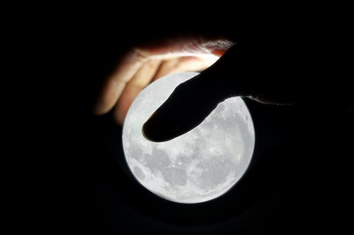 Free stock photo of by hand, full moon