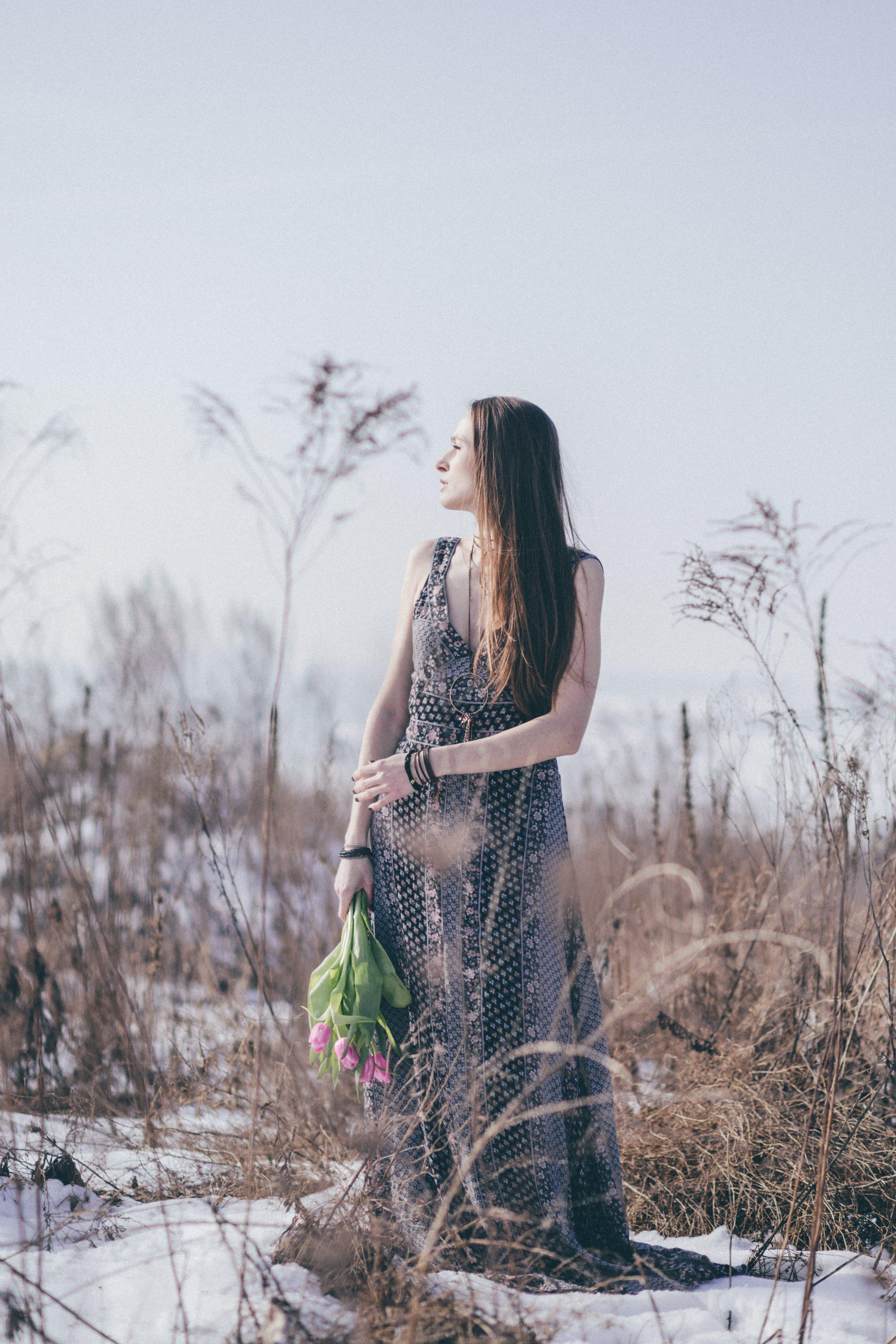 Woman Looking at Tree