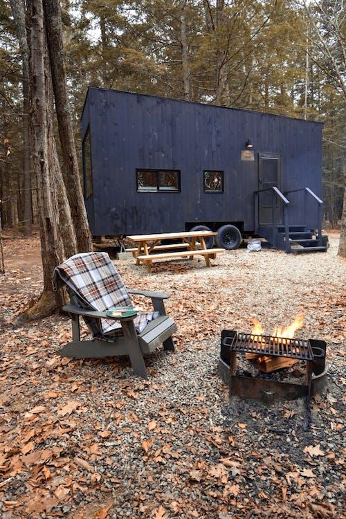 Ingyenes stockfotó apró ház, erdő, glamping, házikó témában