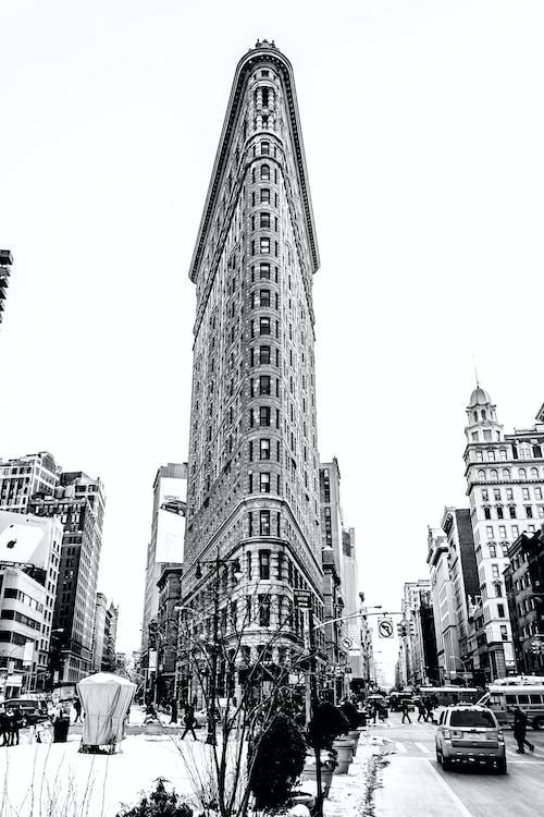 Foto stok gratis Arsitektur, Gedung Besi, hitam & putih, kota