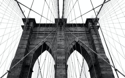 Free stock photo of b&w, bridge, brooklyn, brooklyn bridge