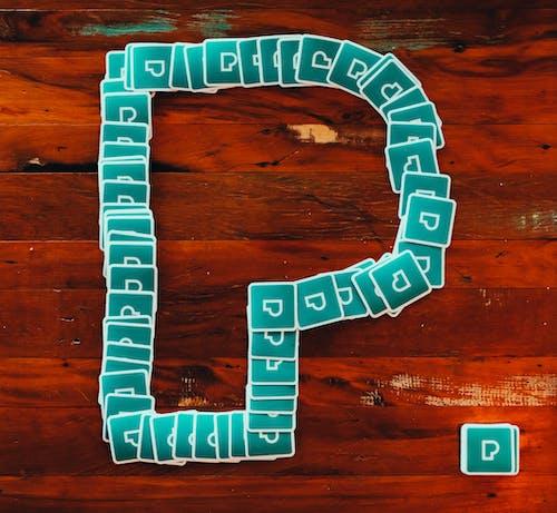 Blue Letter P Clip Art