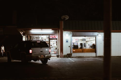 Free stock photo of city, gas station, late night, store