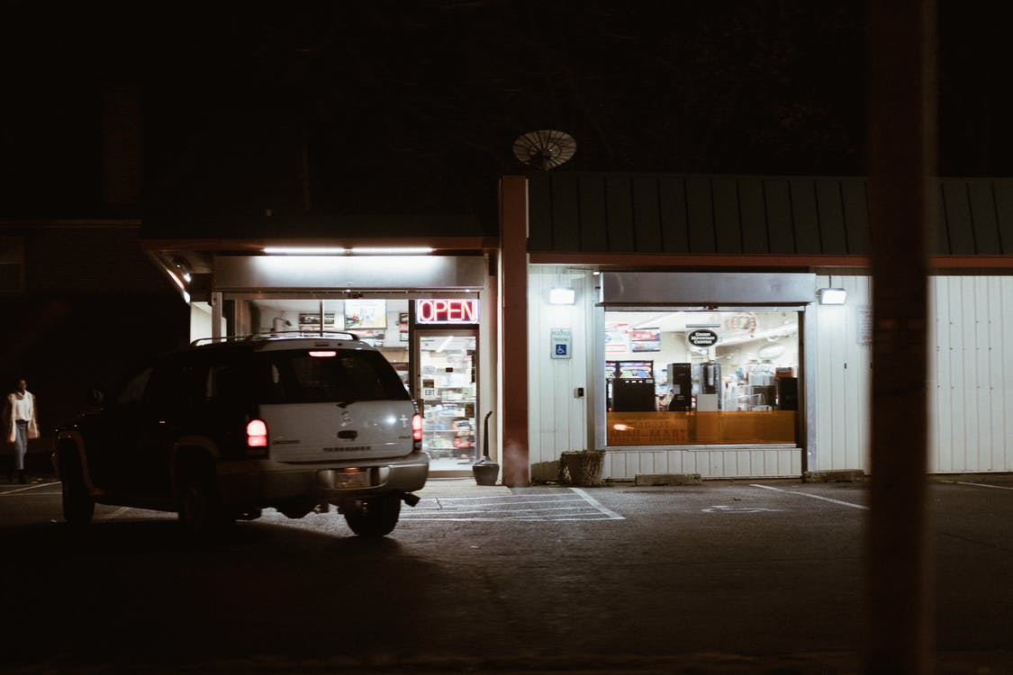 Free stock photo of city, gas station, late night