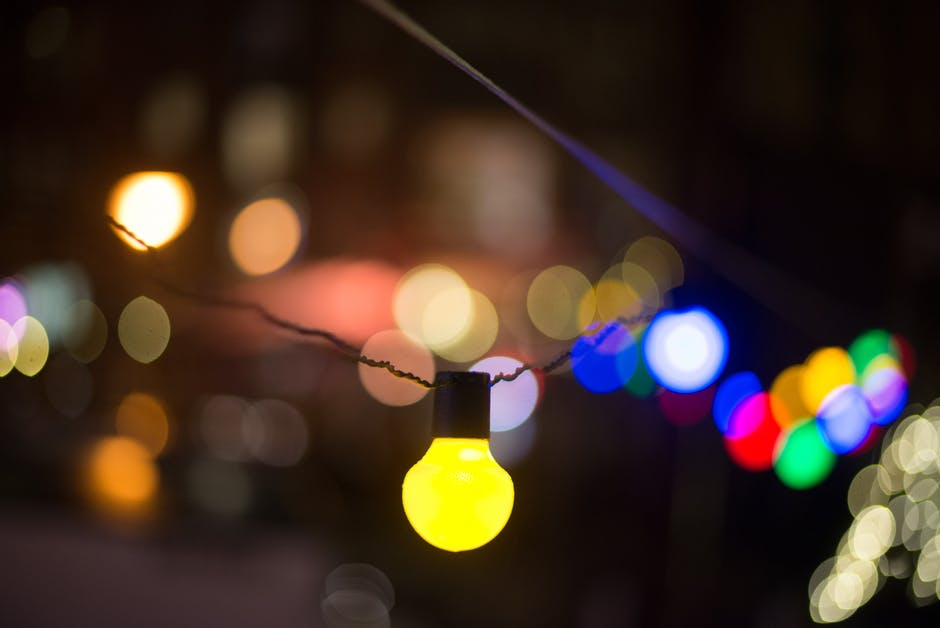 Defocused Image of Illuminated Lights at Night