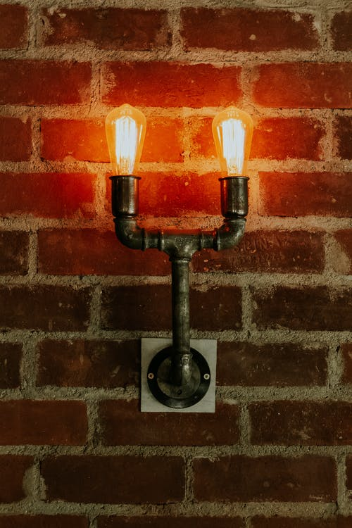 Pipe Lamp on Wall