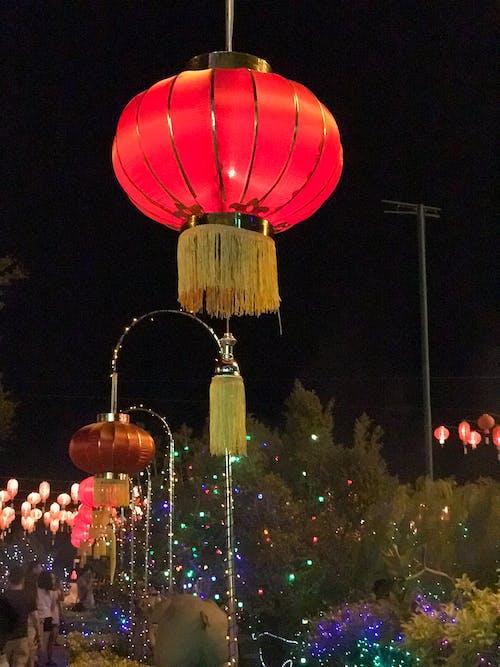 Free stock photo of chinese lanterns, colourful