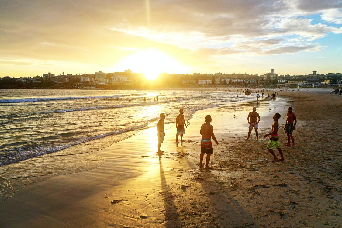 People on Beach during Sunset · Free Stock Photo