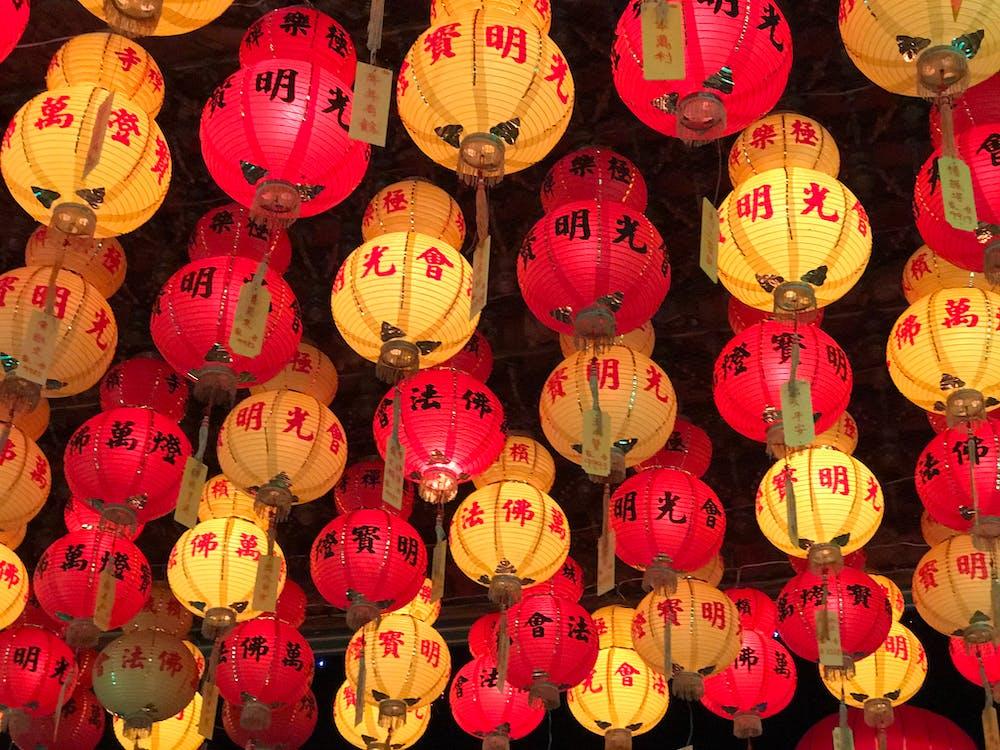 chinese lanterns, lantern, lanterns