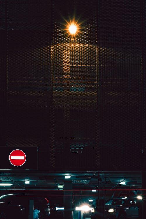 Free stock photo of cars, garrage, light, lights
