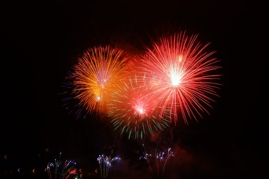 Free stock photo of explosion, new year's eve, colorful, color