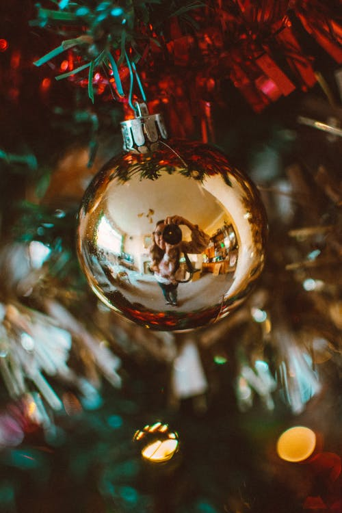 Close-Up Photo Of Christmas Ball