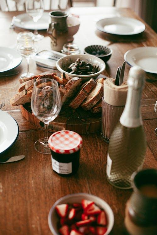 Бесплатное стоковое фото с джем, еда, завтрак, полая вена