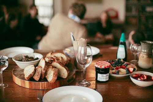 Základová fotografie zdarma na téma brunch, chleba, džem, hostina