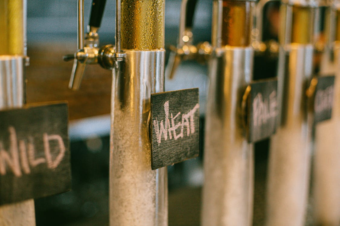 alcohol, beer, beer on tap
