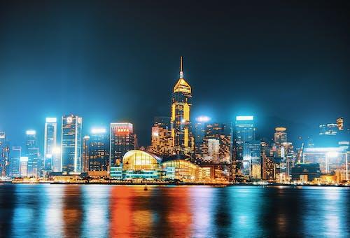 城市, 夜燈, 天際線, 市容 的 免費圖庫相片